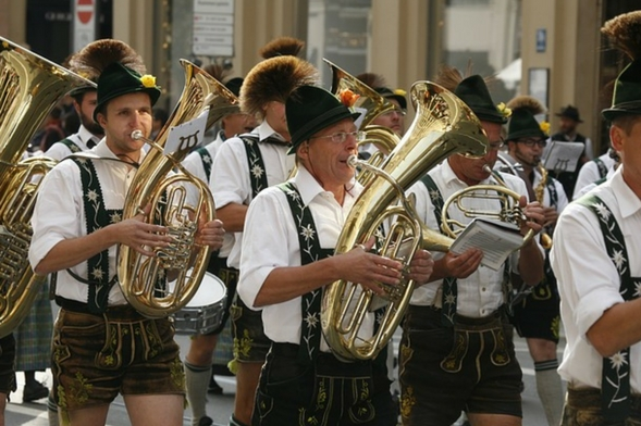 Musicians of the Oktoberfest parade